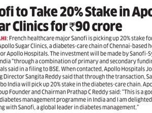 Sanofi's investment in Apollo Sugar Clinics Coverage Report-2