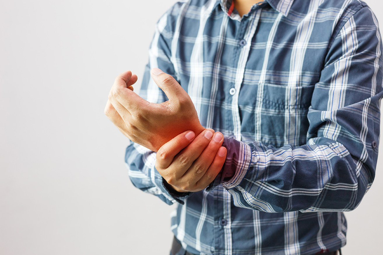 Man with wrist pain