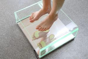 Foot pressure examination