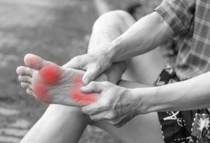 Symptoms of diabetic foot ulcer